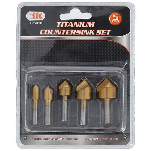Wholesale 5PC Titanium Countersink Set