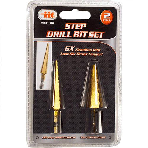 Wholesale 2PC Step Drill Bit Set