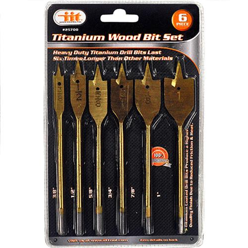 Wholesale 6PC TITANIUM WOOD BIT SET