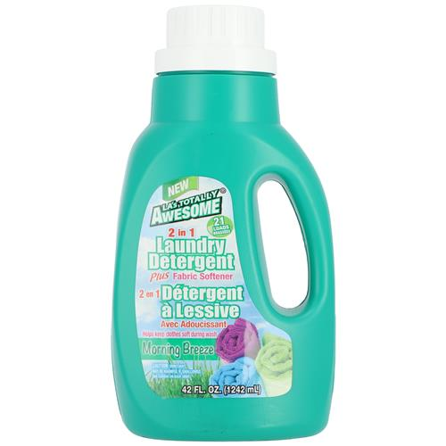 Wholesale 42oz AWESOME 2in1 LAUNDRY DETERGENT & SOFTENER MORNING BREEZE