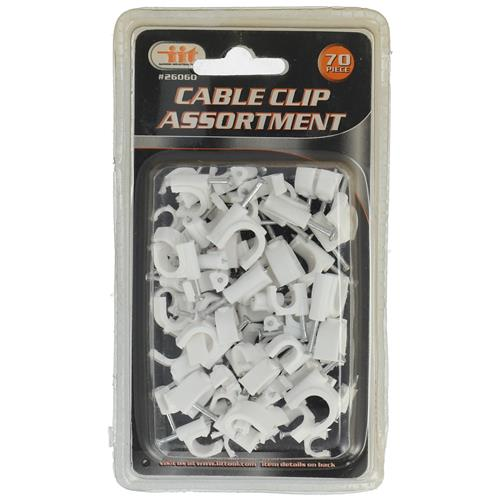 Wholesale 70PC Cable Clip Assortment