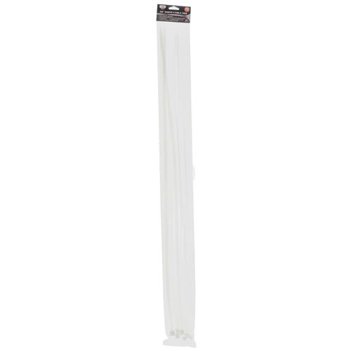 "Wholesale 10pk 36"" WHITE CABLE TIES"