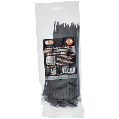 """Wholesale 100PC Heavy Duty 8""""X 4.8mm  Cable Ties"""