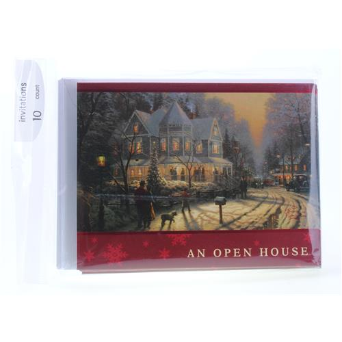 Wholesale Thomas Kinkade Holiday Open House Invites PP$3.99