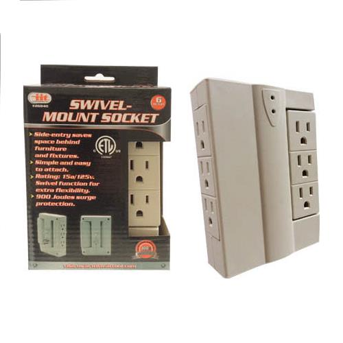Wholesale 6 Outlet Swivel Mount Socket