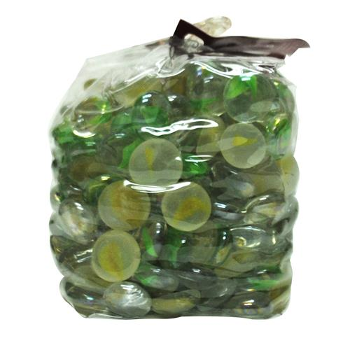 wholesale glass gems in drawstring polybag lime green glw