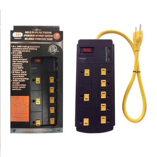 Wholesale 8 OUTLET & 2 USB POWER STRIP