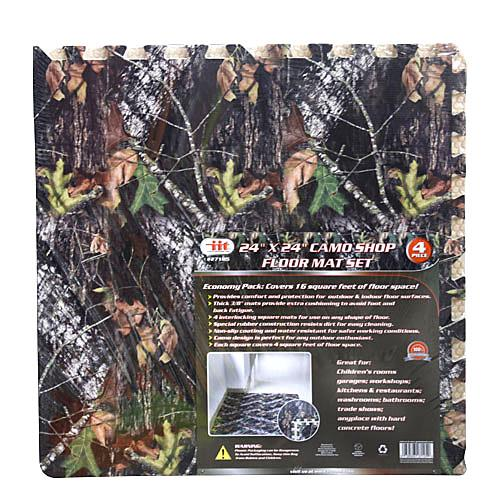 Wholesale 4PK CAMO SHOP FLOOR MAT SET