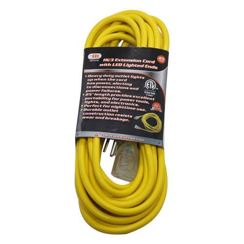 Wholesale 25' 16/3 EXTENSION CORD w/LED