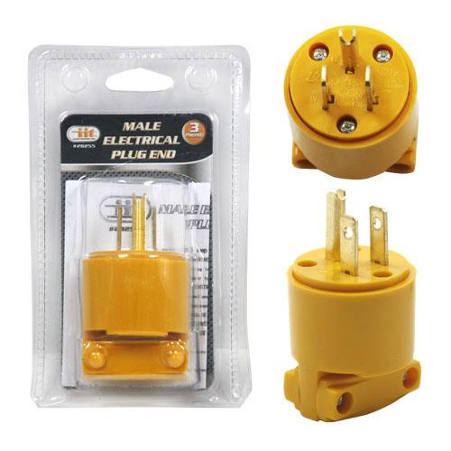 Wholesale 3 Prong Male Electrical Plug End