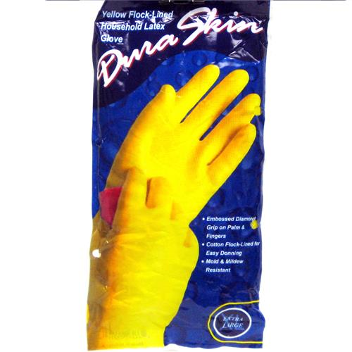 Wholesale Duraskin Yellow Latex Glove Large (Playtex)