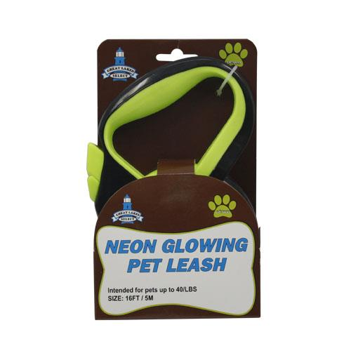Wholesale 16' NEON REFLECTIVE PET LEASH