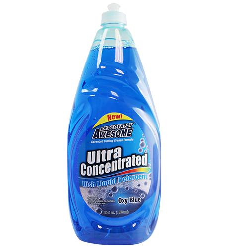 Wholesale 50oz AWESOME ULTRA DISH LIQUID OXY BLUE