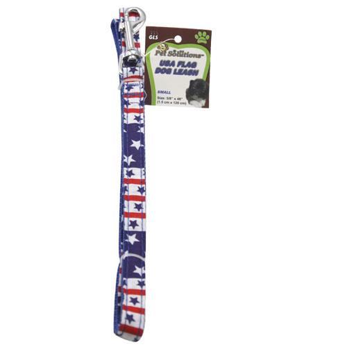 Wholesale SMALL USA FLAG DOG LEASH