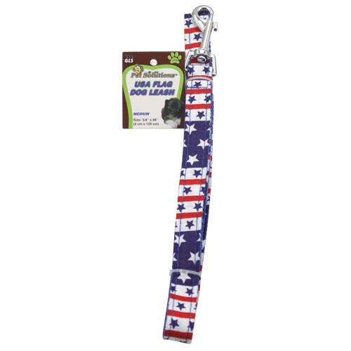 Wholesale MEDIUM USA FLAG DOG LEASH