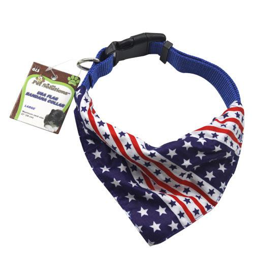 Wholesale LARGE USA FLAG BANDANA COLLAR
