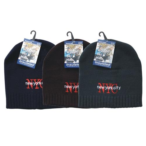 Wholesale Winter Hat NYC Embroidered Design ASsorted Colors