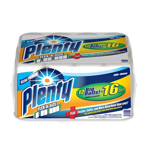 Wholesale Plenty Paper Towel Flex-A-Size 112 Sheets (Bounty)
