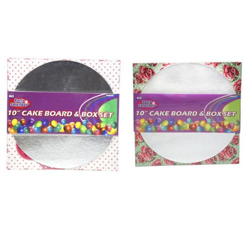 "Wholesale 10"" CAKE BOARD & BOX SET"