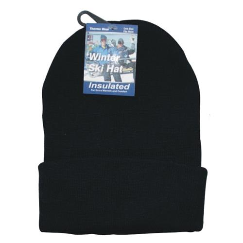 Wholesale Beanie Hat Acrylic Solid Black Only - BEST DEAL (also use code 24311WW)