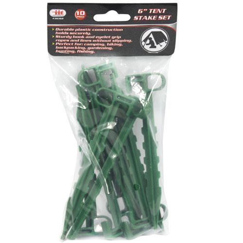 Wholesale 10pc TENT STAKE SET - 6 INCH