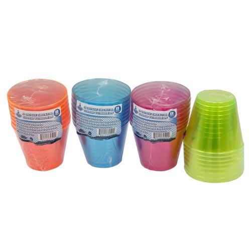 Wholesale 8pc 9oz CRYSTAL COLOR TUMBLERS