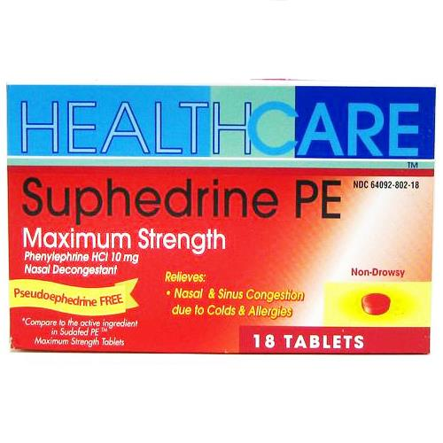 Wholesale Health Care Suphedrine PE Maximum Strength Tablets
