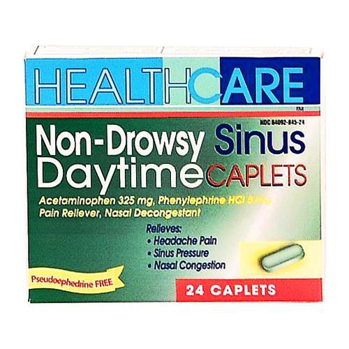 Wholesale Health Care  Non-Drowsy Daytime APAP Sinus Caplets exp 11/2015