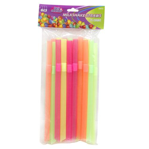 Wholesale 25pk MILKSHAKE STRAWS