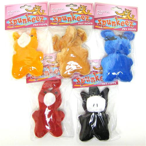 Wholesale Spunkeez Cat Nip Animals- 6 Styles