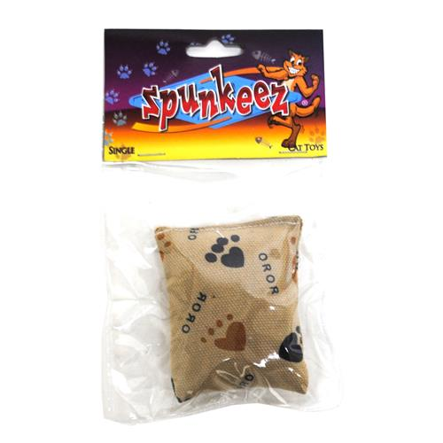 "Wholesale Spunkeez Plush Pouch 3x2.5"" Cat Toy"