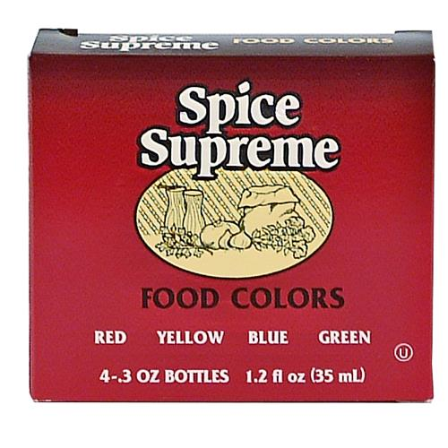 Wholesale Spice Supreme Food Color 4 Pack Assorted