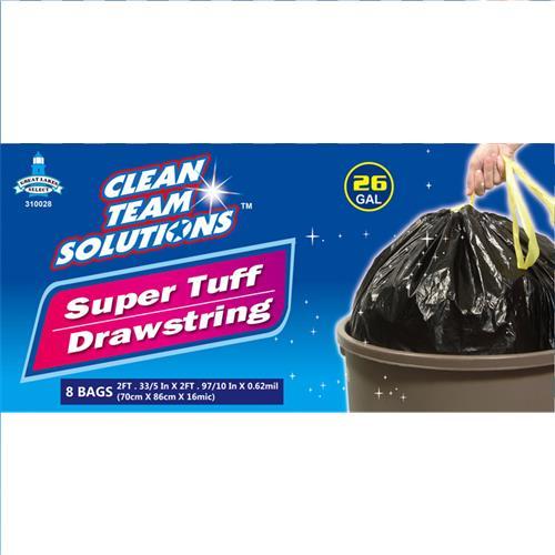 Wholesale Super Tuff Drawstring Trash Bag 26 Gallon