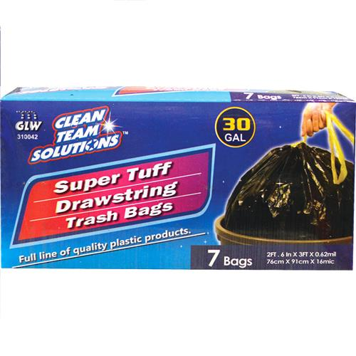 Wholesale Super Tuff Drawstring Trash Bags 30 Gallon
