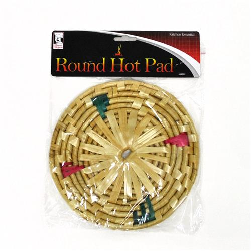 Wholesale Round Bamboo Hot Plate Pad 7""