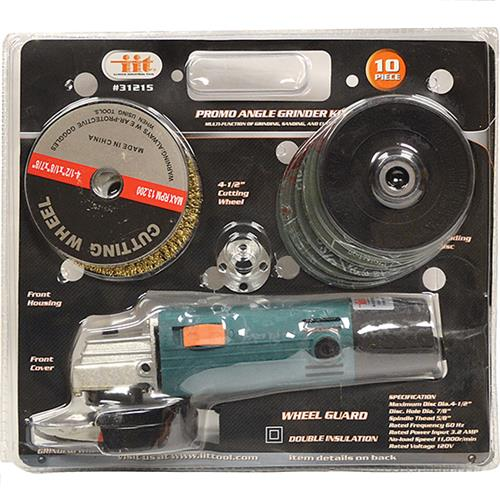 "Wholesale 10PC 4.5"""" Angle Grinder Kit"