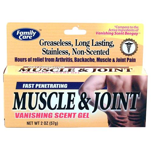 Wholesale Family Care Muscle & Joint Pain Relief Gel (Vanishing Scent Ben-Gay)