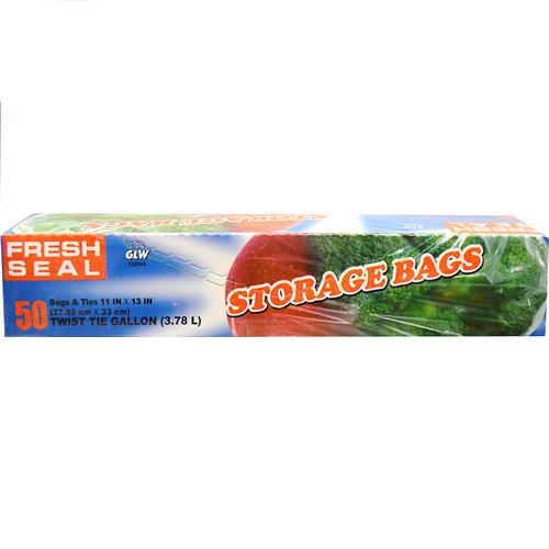 Wholesale Fresh Seal Gallon Storage Bag (Twist Tie)