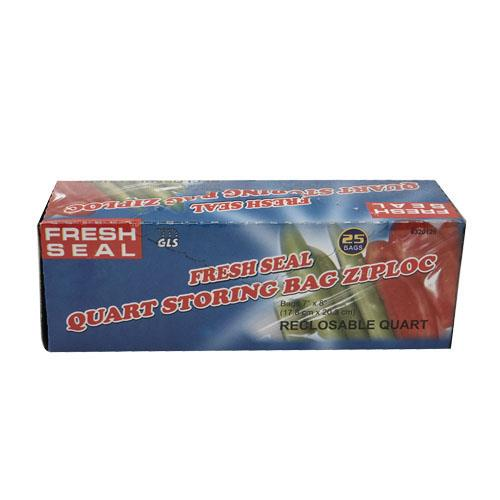 Wholesale Fresh Seal Quart Storage Bags Recloseable