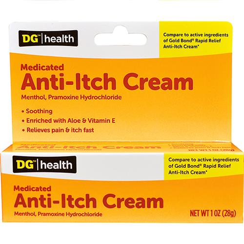 Wholesale DG Health - Anti-itch Cream (NBE - Gold Bond - 1% Menthol, 1% Pramoxine Hydrochl