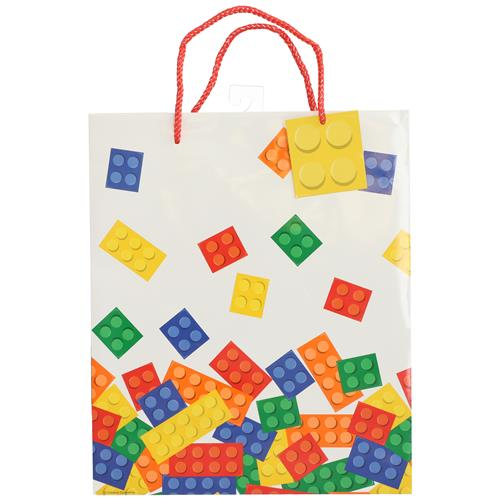 Wholesale LARGE GIFT BAG BLOCK PARTY 10x12'' 5'' GUSSET