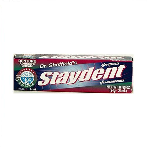 Wholesale Sheffield Extra Strength Staydent Denture Adhesive Cream