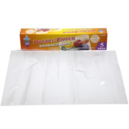 Wholesale Z5pc 2 GAL DBL ZIP STORAGE BAG