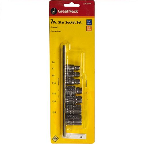 Wholesale 7pc EXTERNAL STAR SOCKET 1/4 &