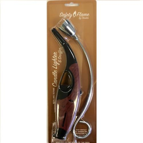 Wholesale 2pc CANDLE LIGHTER & SNUFFER RED MAHOGANY
