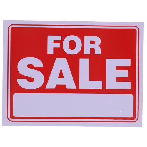 "Wholesale 9"" x 12"" FOR SALE SIGN"