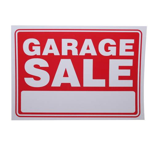 "Wholesale 9"" x 12"" GARAGE SALE SIGN"