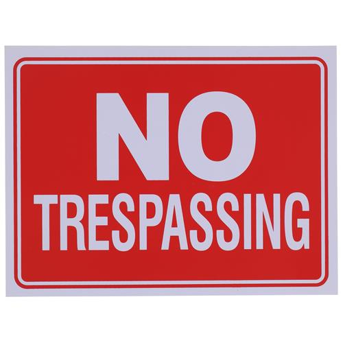 "Wholesale 9"" x 12"" NO TRESPASSING  SIGN"