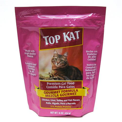 Wholesale Top Kat Gourmet Flavor Cat Food Pouch