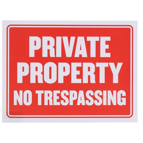 "Wholesale 9"" x 12"" PRIVATE PROPERTY SIGN"